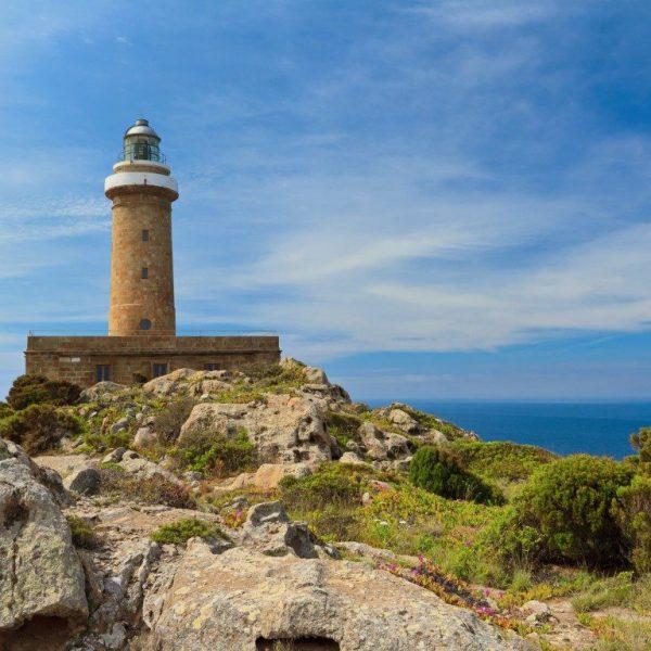 lighthouse in San pietro island, Carloforte, south west sardinia, Italy